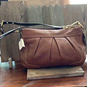 Coach Hampton leather small shoulder bag NWT